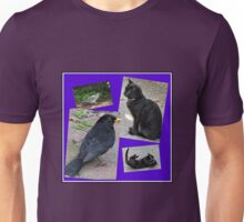 Natural Enemies - Cats and Birds Collage Unisex T-Shirt
