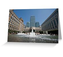 Cabot Square, London E14 Greeting Card
