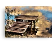 place for the angler Canvas Print