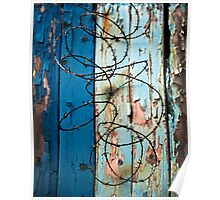 Barbed Wire and fence Poster