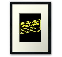 New Year's Goals Framed Print