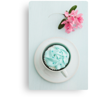 Cupcake and flower Canvas Print