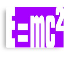 Mass–energy equivalence Canvas Print