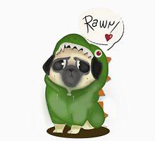 Rawr: the dinosaur pug Unisex T-Shirt