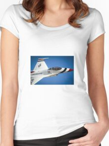 Military Jet Women's Fitted Scoop T-Shirt