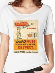 Radiation 1950 poster vintage Women's Relaxed Fit T-Shirt