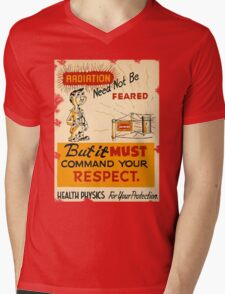 Radiation 1950 poster vintage Mens V-Neck T-Shirt