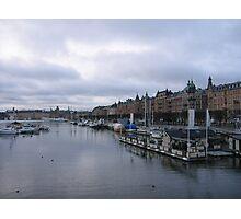 Stockholm harbour Photographic Print
