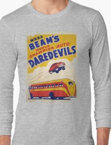 Dare devil Autos 1950 s poster t-shirt vintage Long Sleeve T-Shirt