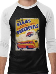 Dare devil Autos 1950 s poster t-shirt vintage Men's Baseball ¾ T-Shirt