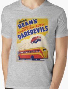 Dare devil Autos 1950 s poster t-shirt vintage Mens V-Neck T-Shirt