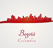 Bogota skyline in red by paulrommer