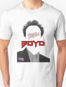 TEAM Boyd Black with red copy T-Shirt