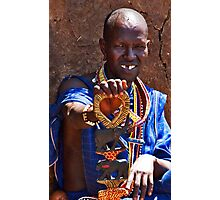 Gap Toothed Masai Photographic Print