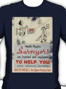 Health Physics 1950's t-shirt vintage  T-Shirt