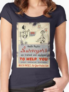 Health Physics 1950's t-shirt vintage  Women's Fitted Scoop T-Shirt