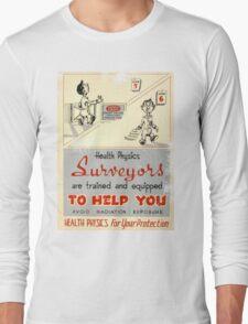 Health Physics 1950's t-shirt vintage  Long Sleeve T-Shirt