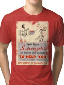 Health Physics 1950's t-shirt vintage  Tri-blend T-Shirt