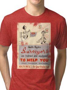 Health Physics 1950's t-shirt vintage  Tri-blend T-Shirt