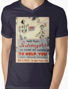 Health Physics 1950's t-shirt vintage  Mens V-Neck T-Shirt