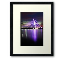 Seri Wawasan Bridge reflection Framed Print
