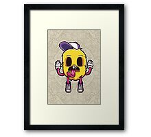 Hands Up Cartoon Character Framed Print