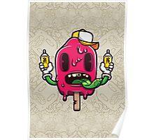 I Scream Cartoon Character Poster