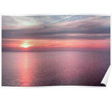 Norfolk summer sunset Poster