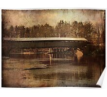 Perrines Covered Bridge 2 Poster