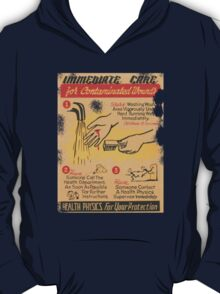 Radiation Warning poster 1950's T-Shirt
