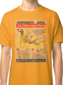 Radiation Warning poster 1950's Classic T-Shirt
