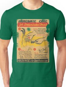 Radiation Warning poster 1950's Unisex T-Shirt