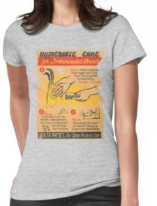 Radiation Warning poster 1950's Womens Fitted T-Shirt