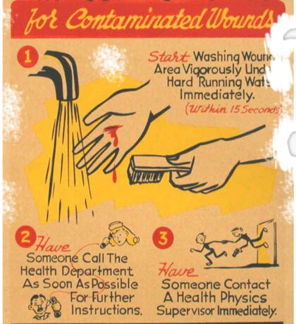 Radiation Warning poster 1950's Sticker