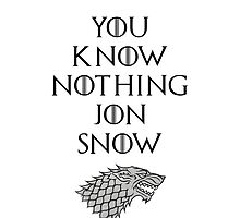 You Know Nothing Jon Snow Phonecase by bellaolivia