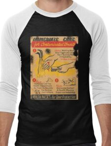 immediate care contaminated 1950's t-shirt Men's Baseball ¾ T-Shirt