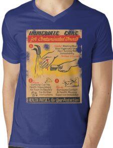 immediate care contaminated 1950's t-shirt Mens V-Neck T-Shirt
