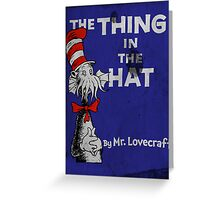 The Thing in the Hat Greeting Card