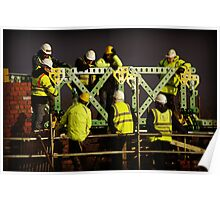 Giant Meccano Bridge Poster