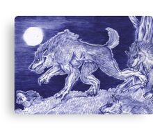 Werewolf pack 1 Canvas Print
