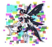 Monster Girl Ink Glitch Photographic Print