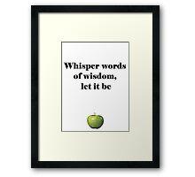 Let it be Framed Print