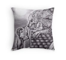 Doctor Who - The Doctor and The Wolf Throw Pillow