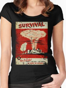Survival nuclear 1950's Vintage T-shirt Women's Fitted Scoop T-Shirt