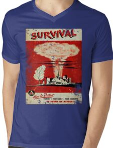 Survival nuclear 1950's Vintage T-shirt Mens V-Neck T-Shirt