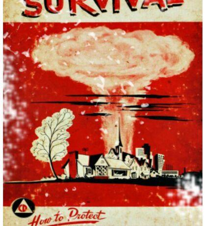 Survival nuclear 1950's Vintage T-shirt Sticker