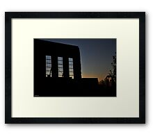Facade Silhouette 1 Framed Print