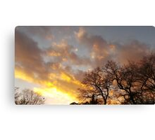 Almost Sunset Canvas Print