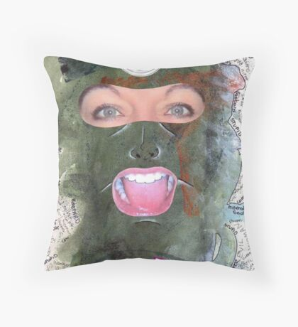 Evil Woman Throw Pillow