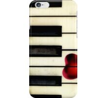 Piano Heart iPhone iPhone Case/Skin
